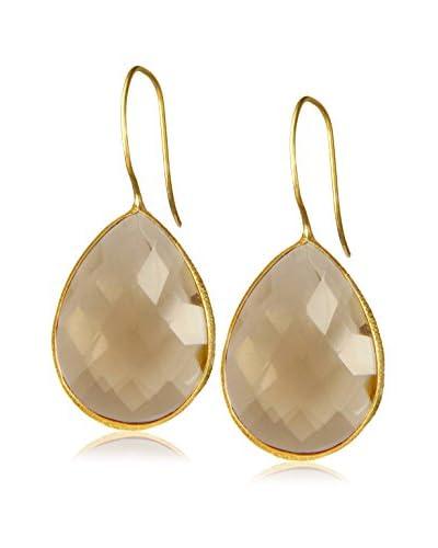 Saachi 18K Gold-Plated Smoky Quartz Drop Earrings