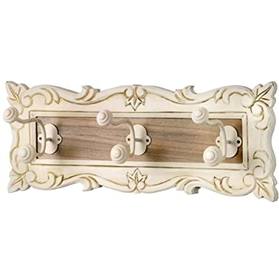 Shabby Chic French Cream Wall Mounting Coat Hooks