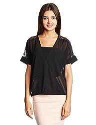 Lee Women's Body Blouse Shirt (LESH8415_Black_Small)