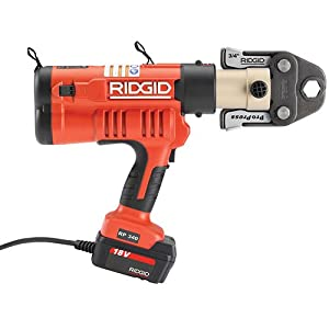 Ridgid 43358 Battery Press Tool Kit with ProPress Jaws, 1/2-Inch - 2-Inch