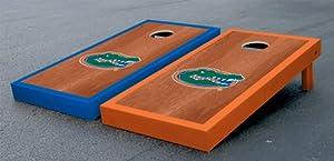 Florida UF Gators Cornhole Game Set Rosewood Stained Gator Version Corn Hole by Gameday Cornhole