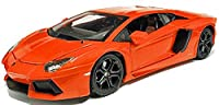 burago deep orange lamborghini aventador LP700-4 car 1.18 scale diecast model