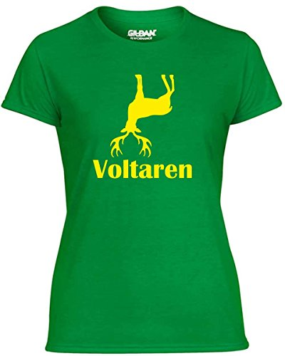 cotton-island-t-shirt-donna-t1097-voltaren-fun-cool-geek-taglia-l