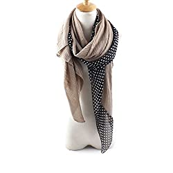 AngelShop Women Lovely Dot Splicing Scarves Shawl BYWJ