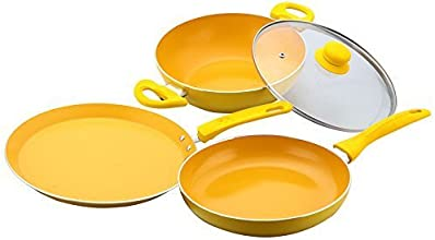 Wonderchef Da Vinci Set, 4-Pieces (Free Spoon & Spatula worth 750/-)