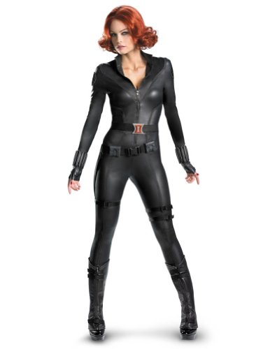 Adult-Costume Black Widow Avengers Theatrical Adult Costume 12-14 Halloween