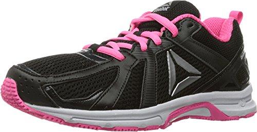 reebok-womens-runner-walking-shoe-coal-black-poison-pink-white-silver-7-m-us