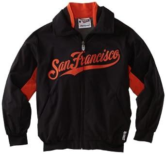 MLB San Francisco Giants Triple Peak Premier Jacket, Black Orange by Majestic