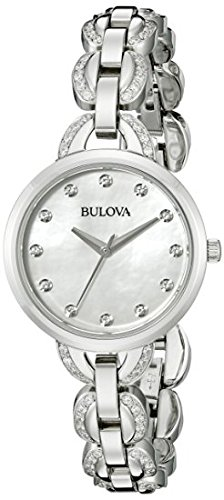 Bulova Women's 96L203 Analog Display Japanese Quartz Silver Watch