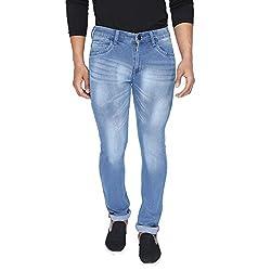 Rican Blue Slim Fit Denim Lycra Jeans for Men