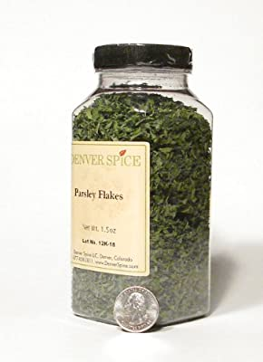 Parsley Flakes-Large Clear Easy Grip Jar by Denver Spice