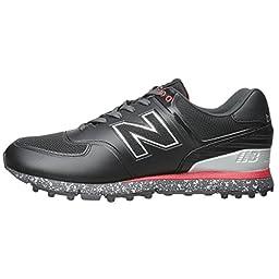 New Balance Men\'s NBG574B Golf Shoe, Black/Red, 9.5 D US