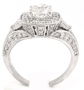 Cushion Cut Diamond Engagement Ring Antique 1.89Ctw