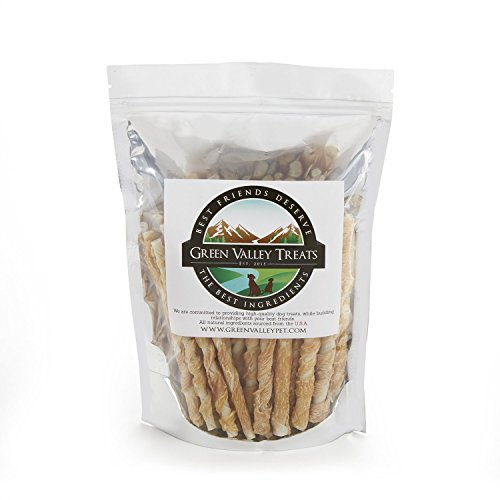 Green Valley Treats Rawhide Chews with REAL Chicken, Made in the USA Only, Natural Gluten Free Dog Treats for Small Dogs, Perfect Dog Training Treats (Made In America Rawhide compare prices)