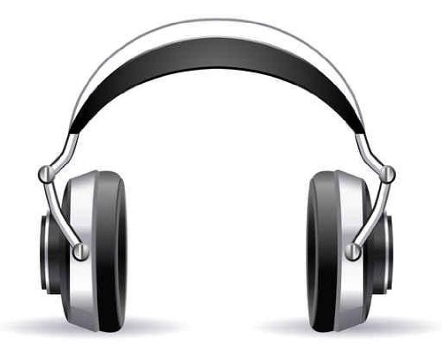 Content Wall Decals Headphone - 18 Inches X 14 Inches - Peel And Stick Removable Graphic