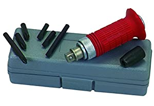 """1/2 inch Impact Screwdriver Set with Case and Phillips and slotted bits with 1-3/8"""" and 15/16"""" shanks (six bits total)"""