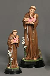 Luciana Collection - Statue - Saint Anthony - Poly Resin Statues on Dark Base - 5in.