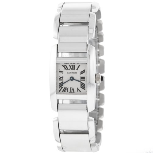 Cartier W650029H Tankissime 18kt White Gold Quartz Ladies Watch