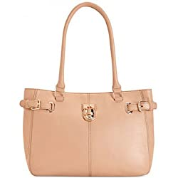 Calvin Klein Modena Pebble Leather Shopper Nude