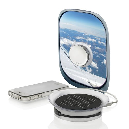 Port Solar Charger a Portable Solar Powered Charger for Your Cell Phone or Tablet That Sticks to Windows