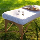 Massage Table Poly/Cotton Fitted Sheet - Imported