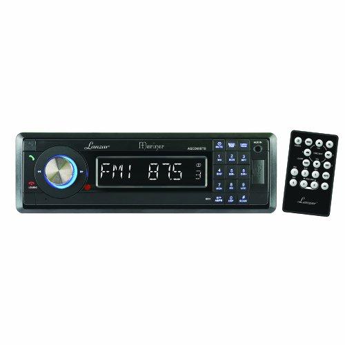 Lanzar Aqcd60Btb Am/Fm-Mpx In-Dash Marine Detachable Face Radio Cd/Sd/Mmc/Usb Player And Bluetooth Wireless Technology