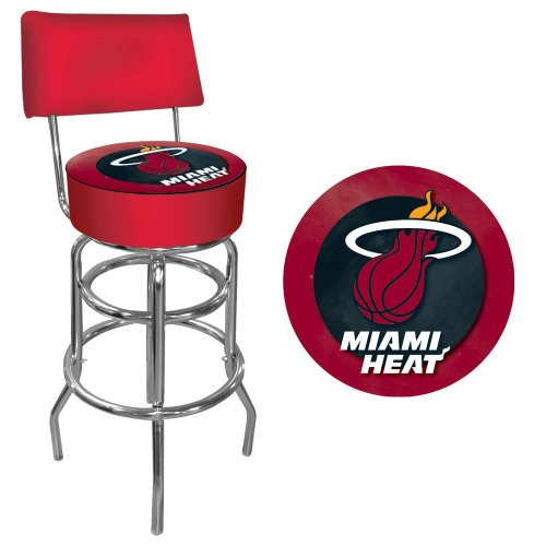 NBA Miami Heat Padded Swivel Bar Stool with Back TRADEMARK GAMES Bars & Wine Cabinets autotags B005L3YPB6