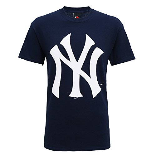 Official American Sports - Maglietta maniche corte New York Yankees - Uomo (L) (Blu navy)