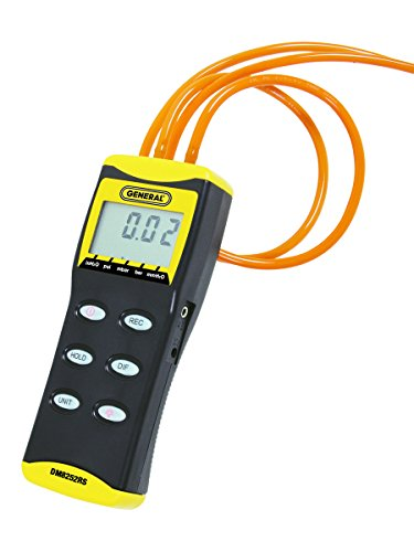 General Tools & Instruments Dm8252Rs Hi Resolution Digital Manometer, With 4 Rubber Stoppers