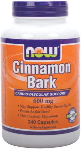 NOW Foods Cinnamon Bark 600mg, 240 Capsules