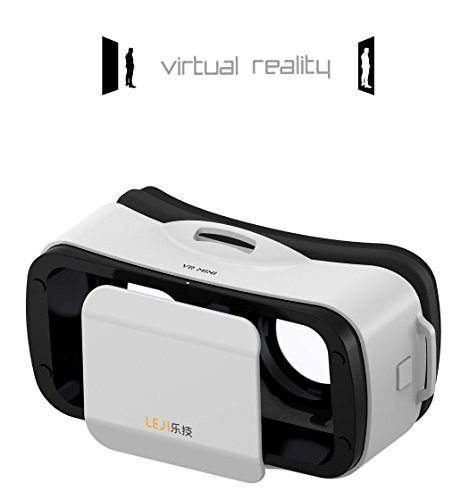 "Mini 3D VR Headset Glasses Virtual Reality for iPhone 6s/6 Plus/6/5S/5C/5 Samsung Galaxy S5/S6/Note4/Note5 & Other 4.7""-6.0"" Cellphones (White)"