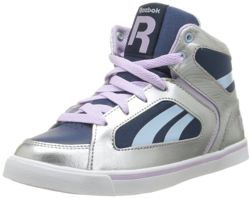 Reebok Girls' Ksee You Mid Trainers Silver Argent (Silver/Dreamyblue) 38