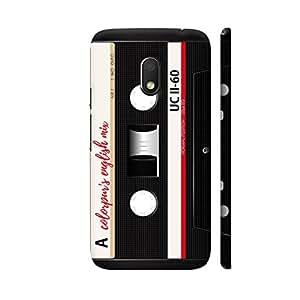Colorpur English Mix Cassette Black Designer Mobile Phone Case Back Cover For Motorola G Play 4th Gen / Moto G4 Play | Artist: Abhinav