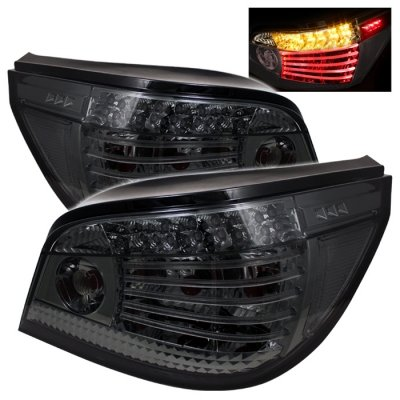 Spyder Auto 111-Be6004-Led-Sm Bmw E60 5-Series 04-07 Led Tail Lights - Smoke Lens/Chrome Housing