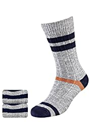 2 Pairs of North Coast Cotton Rich Highlight Striped Socks