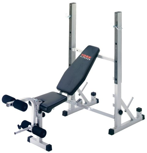 York B540 Heavy Duty 2 in 1 Bench  &  Squat Stand