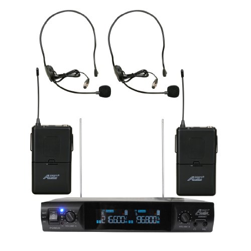 Audio2000 Wv6951H Vhf Portable Wireless Microphone With Two Headsets