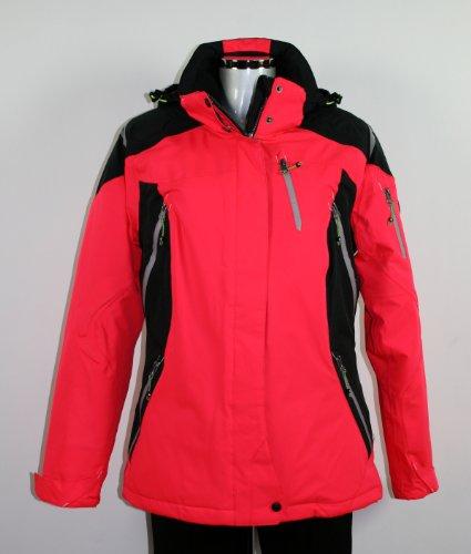 Killtec Damen Funktionsjacke mit abzipbarer Kapuze Haina, neon-pink/schwarz/weiss, 50, 22653-000