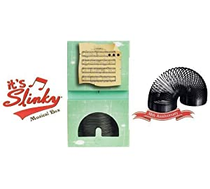 POOF-Slinky 8-10055BL Collector's Edition Original Slinky in Singing Musical Box, Black by Slinky Science (English Manual)