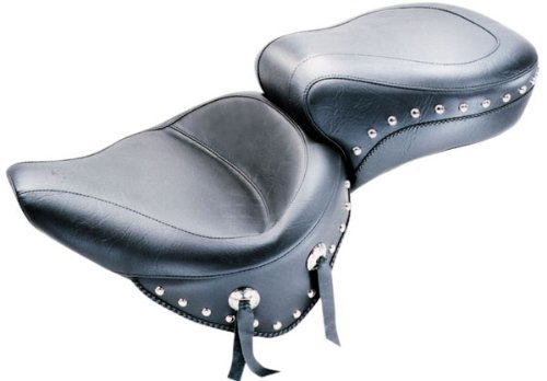 Mustang Studded Wide Touring Seat Black Vehicles Parts