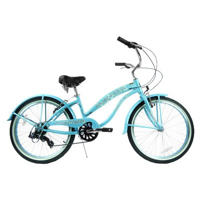 Women's 7 Speed Beach Cruiser Frame Color: Baby Blue