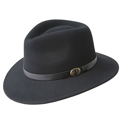 Bailey of Hollywood Briar Fedora Hat Black/Medium (Hollywood Made compare prices)