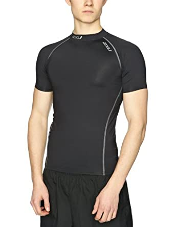 2XU Mens Elite Compression Short Sleeve Top by 2XU