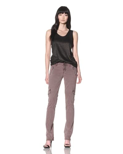 Dylan George Women's Anja Cargo Straight Jeans  [Pigment Dye Brown]