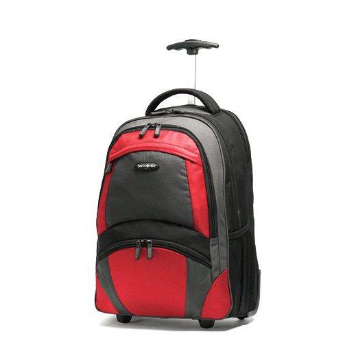 Samsonite Wheeled Backpack, Black/Orange, One Size (Samsonite Trolley compare prices)