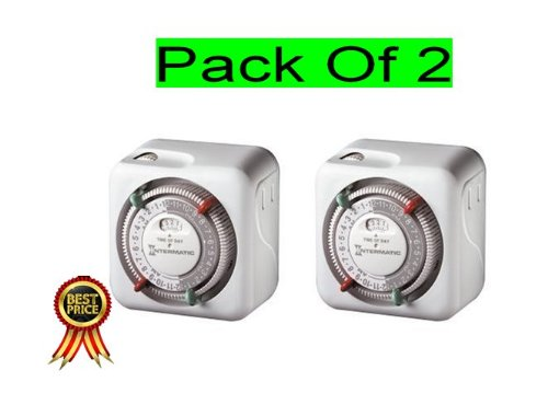 Intermatic Tn311C 2-Pack Heavy Duty Grounded Timers