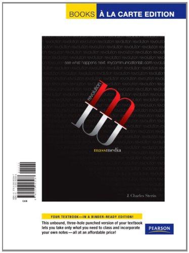Mass Media Revolution, Books a la Carte Plus...