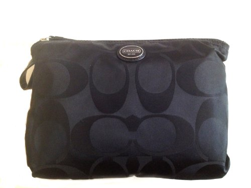 Coach   Coach Signature Nylon Packable Weekender 2 Piece Set 77321 Black