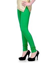 Lal Chhadi Cotton Green Leggings