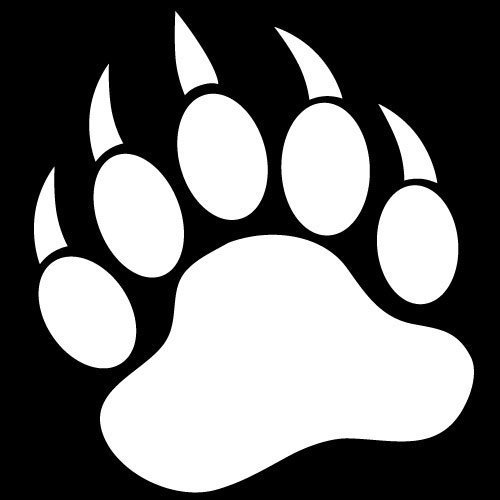 bear footprints template - grizzly bear paw prints pictures to pin on pinterest
